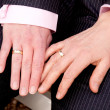 Two female hands with wedding rings — Stock Photo #22799410