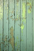 Part of green weathered wooden fencing — Stock Photo