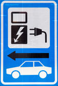 Sign for loading electric car — Stock Photo