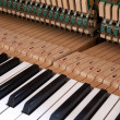 Keys and inside of a piano — Stock Photo
