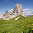 Stock Photo: Mountain peaks cinque torri