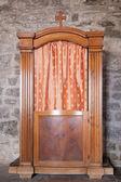 Konfesjonał w starym kościele w vernazza — Zdjęcie stockowe