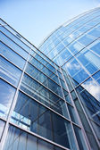 Facade of modern glass blue office — Stock Photo