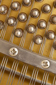 Snares of a piano in closeup — Stock Photo