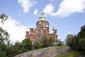 Uspenski cathedral on rock in helsinki — Stock Photo
