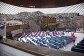 HELSINKI, FINLAND, 14 06 2014: people in the rock church in hels — Stock Photo