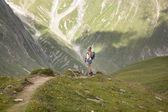 Young girl in the alps — Foto de Stock