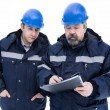 Royalty-Free Stock Photo: Two engineers in helmet