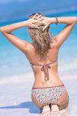 女孩海滩 — 图库照片
