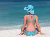 девушка пляж — Стоковое фото
