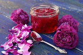 Rose petal jam — Stock Photo
