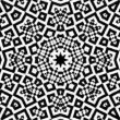 Black and White Kaleidoscopic Loop — Stock Video