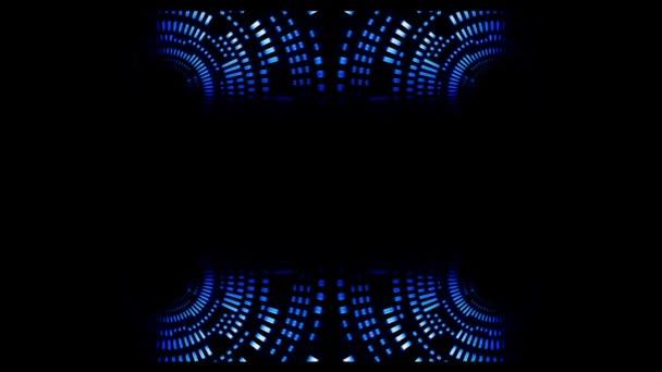Abstractos círculos azules - lazo vj — Vídeo de stock