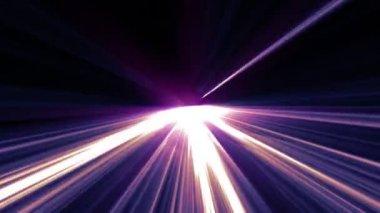 Shining violet lights — Vídeo de stock