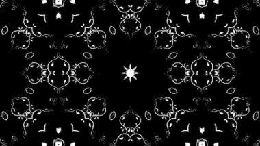 Floral kaleidoscope — Stock Video