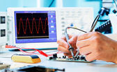 Measurement of a waveform — Stock Photo