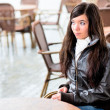 Girl  in cafe - Stock Photo