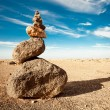 Rock cairn — Stock Photo