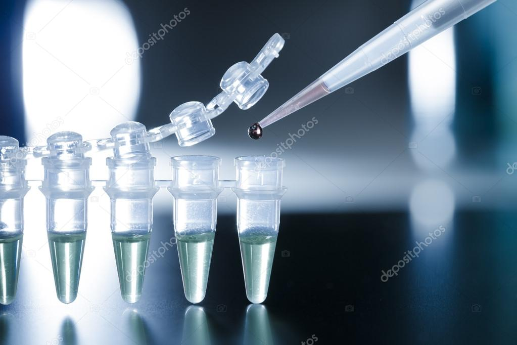 Stem cell research in the PCR strip — Stock Photo #13272800