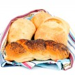 Buns and bread — Stock Photo