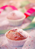 Holiday muffin — Stock Photo
