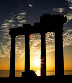 Ancient temple in sunset — Stock Photo