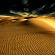 Night in desert - Stock Photo