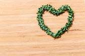 Heart wreath — Stock Photo