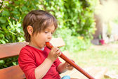 Wooden flute — Stock Photo
