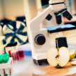 Laboratory microscope - Stock Photo