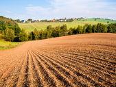 Geploegd veld — Stockfoto
