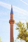 Tower minaret in Antalya — Stock Photo