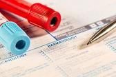 Hematological blood tests — Stock Photo