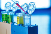 Plastic tubes and pipette — Stock Photo