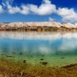 Tranquil sea mirror Pag Croatia, Adriatic Mediterranean Sea — Stock Photo