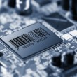 Electronic circuit chip on PCB board — Stock Photo