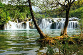 Waterfall in Krka National Park is one of the Croatian nature River — Stock Photo