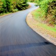 Zigzag on wood high-speed road — Stock Photo