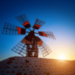 Stock Photo: Ancient Wind Mill Fuerteventura, Canary Islands, Spain