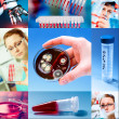 Foto Stock: Scientific collage