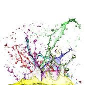 Colour splashes — Stock Photo