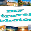 Trip to Europe, travel collage — Stock Photo