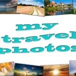 viaggio in Europa, viaggio collage — Foto Stock