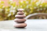 Zen stones, Rock cairn — Stock Photo