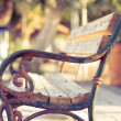 Stock Photo: Antique metal bench