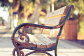 Antique metal bench — Stockfoto