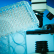 PCR supplies for genetic research — Stock Photo