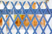 синий деревянный забор — Стоковое фото