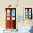 Door and window in a Mediterranean house — Stock Photo