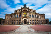 Dresden Opera House. in the evening — Stock Photo